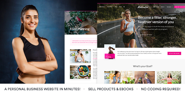 MotivatorGuru - Coaching and Business WordPress Theme - Retail WordPress