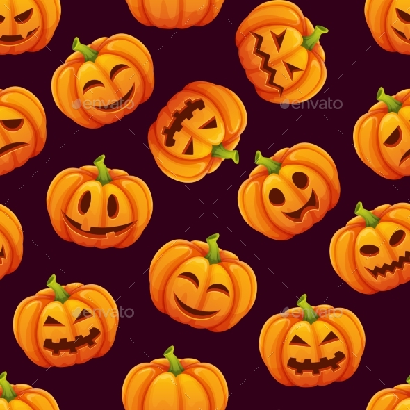 Halloween Seamless Pattern - Backgrounds Decorative