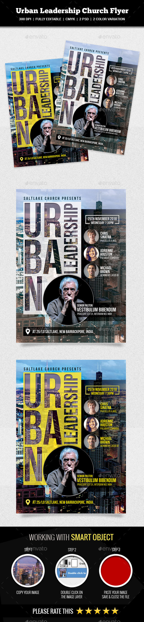 GraphicRiver Urban Leadership Church Flyer 20937885