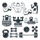 Different Symbols and Badges Set for Fitness Club