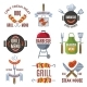 Colored Labels Set for BBQ Party - GraphicRiver Item for Sale