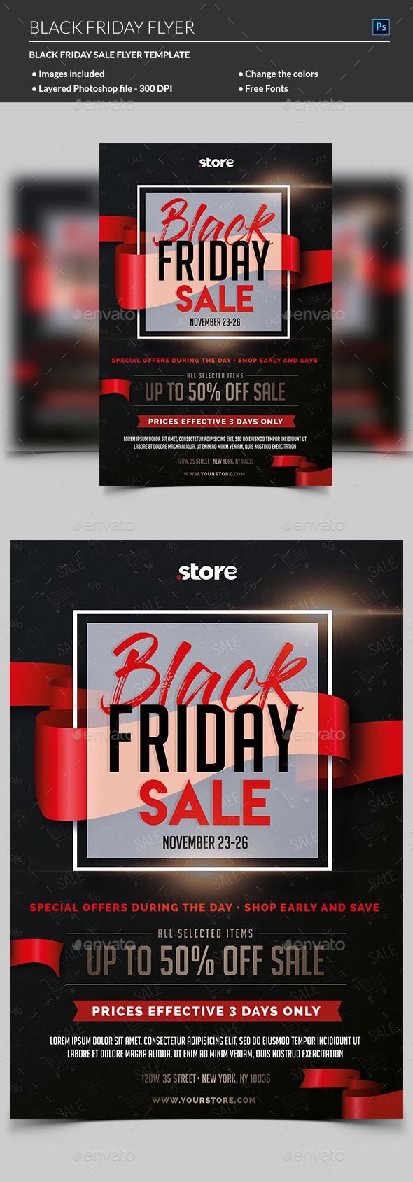 Black Friday Sale Flyer - Commerce Flyers