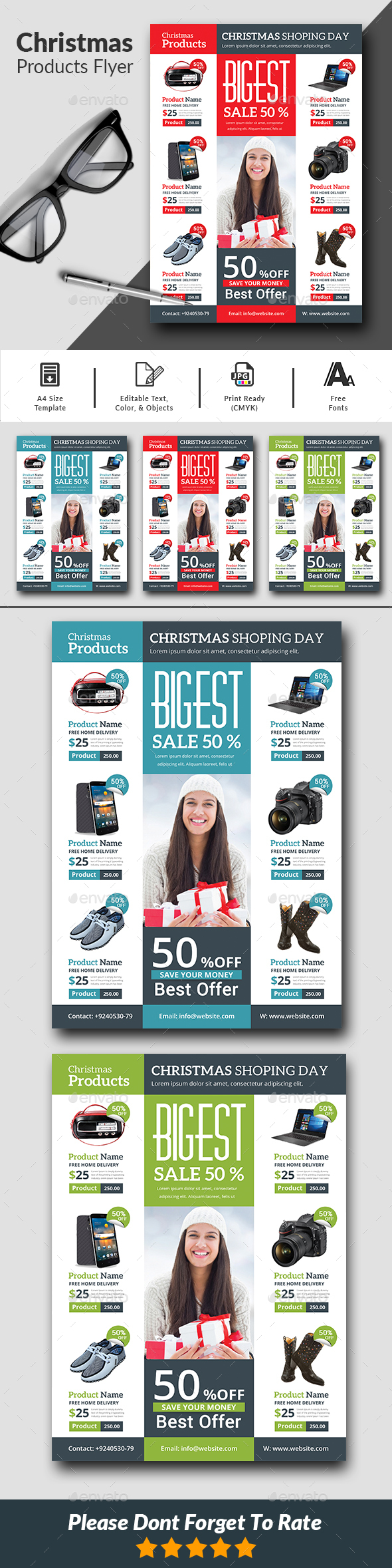 GraphicRiver Christmas Product Flyer Templates 20937991