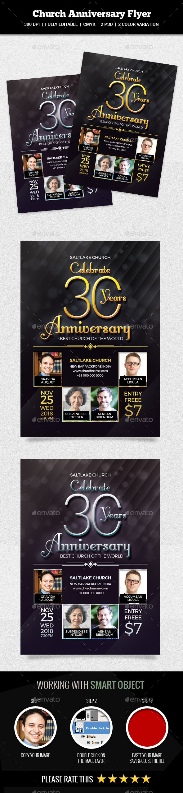 Church Anniversary Flyer - Church Flyers