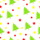 seamless pattern with Christmas tree and stars - 3DOcean Item for Sale