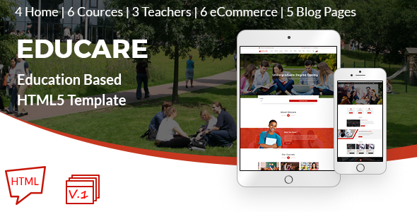 Educare Education Based HTML5 Responsve Template - Business Corporate