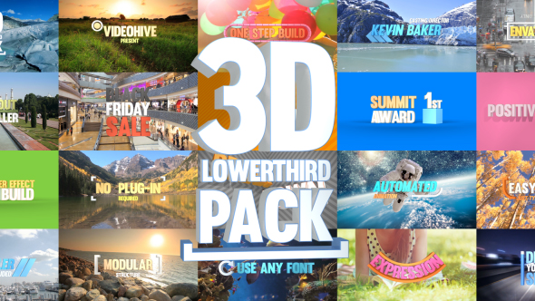 Videohive 3D Lowerthird Title Pack 20897214