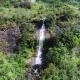 Aerial View of Water Flows Down Two Waterfalls From the Mountain of Adam's Peak in Sri Lanka - VideoHive Item for Sale