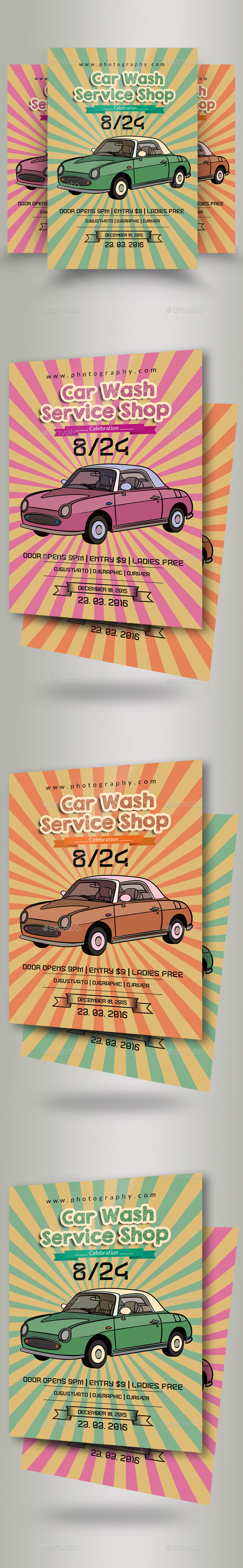 GraphicRiver Car Wash Flyer Template 20938666