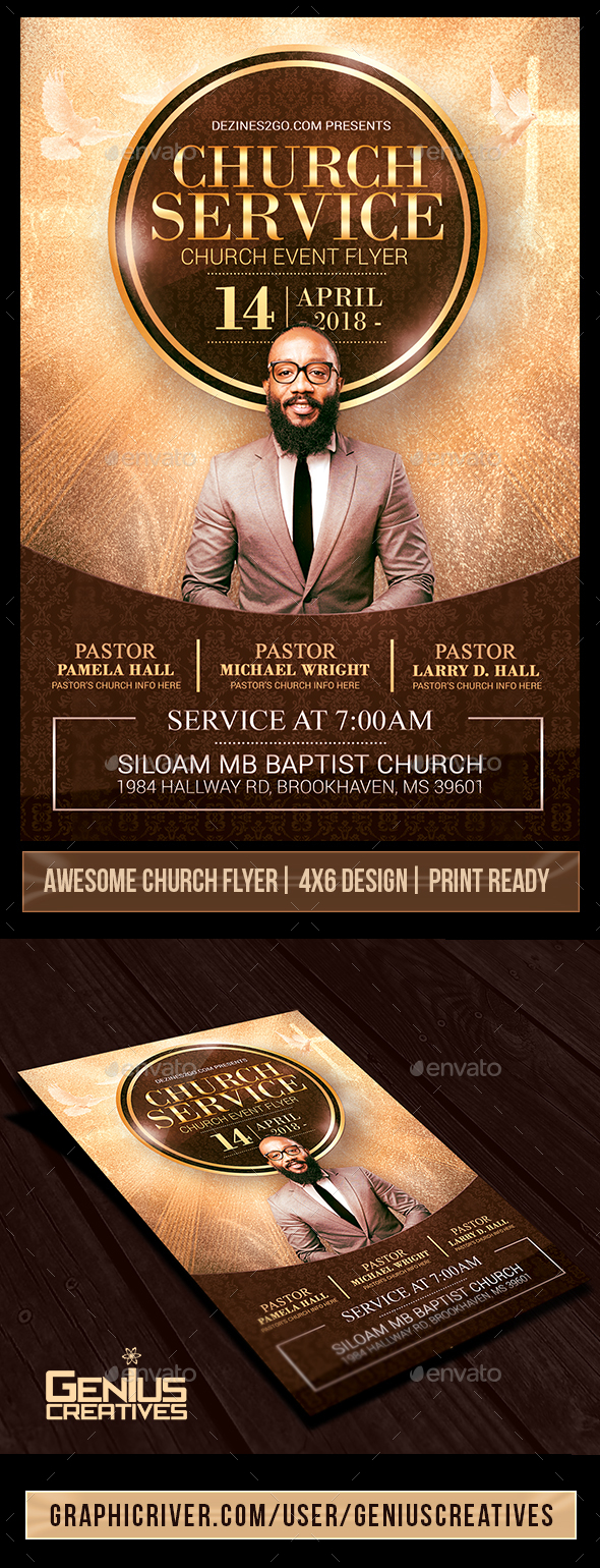Church Service Flyer Template V2 - Church Flyers