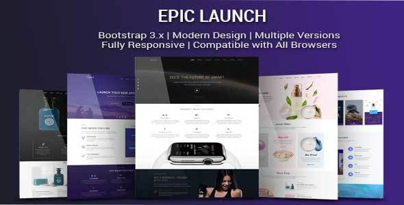 ThemeForest Epic Launch High-Converting Landing Page Template 20831859