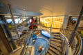 Staircase in luxurious nautical passenger ferry