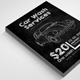 Calk Board Car Wash Flyer