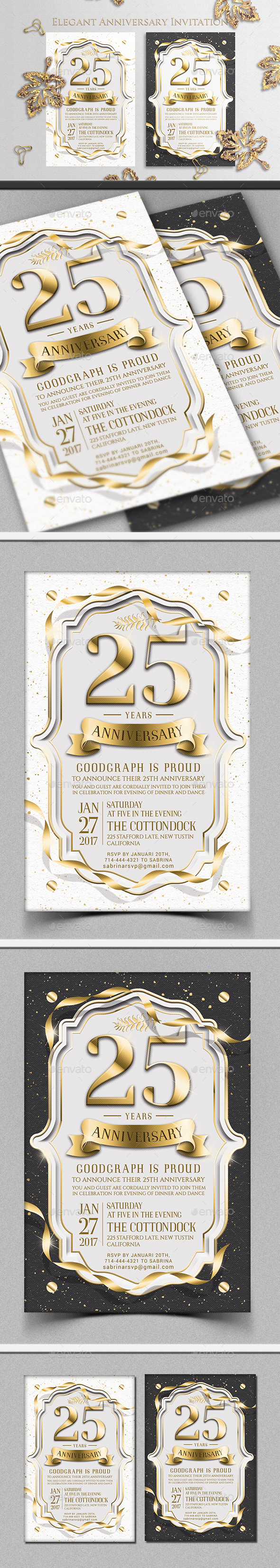 Anniversary Invitation - Invitations Cards & Invites