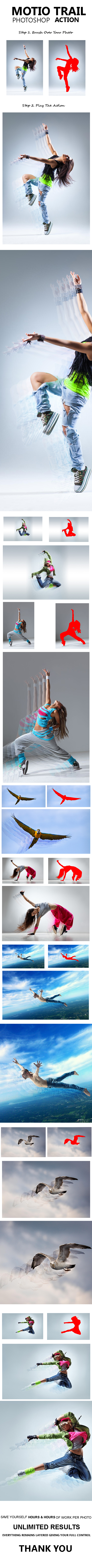GraphicRiver Motion Trail Photoshop Action 20939238
