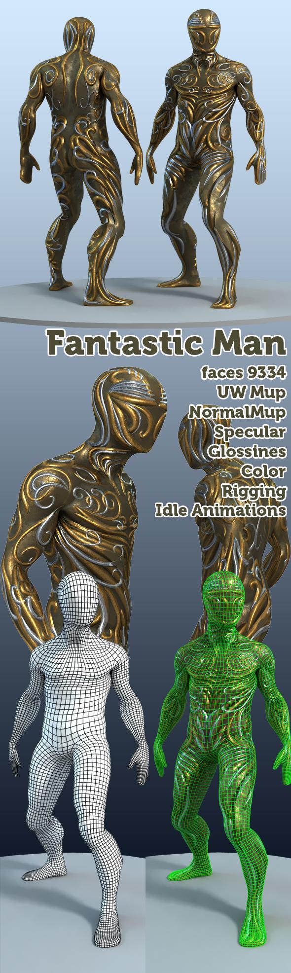 Fantastic man - 3DOcean Item for Sale