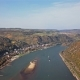 Flight over Rhine Valley near Bacharach Town - VideoHive Item for Sale