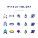 Flat Icons of Weather Holiday Pack - GraphicRiver Item for Sale