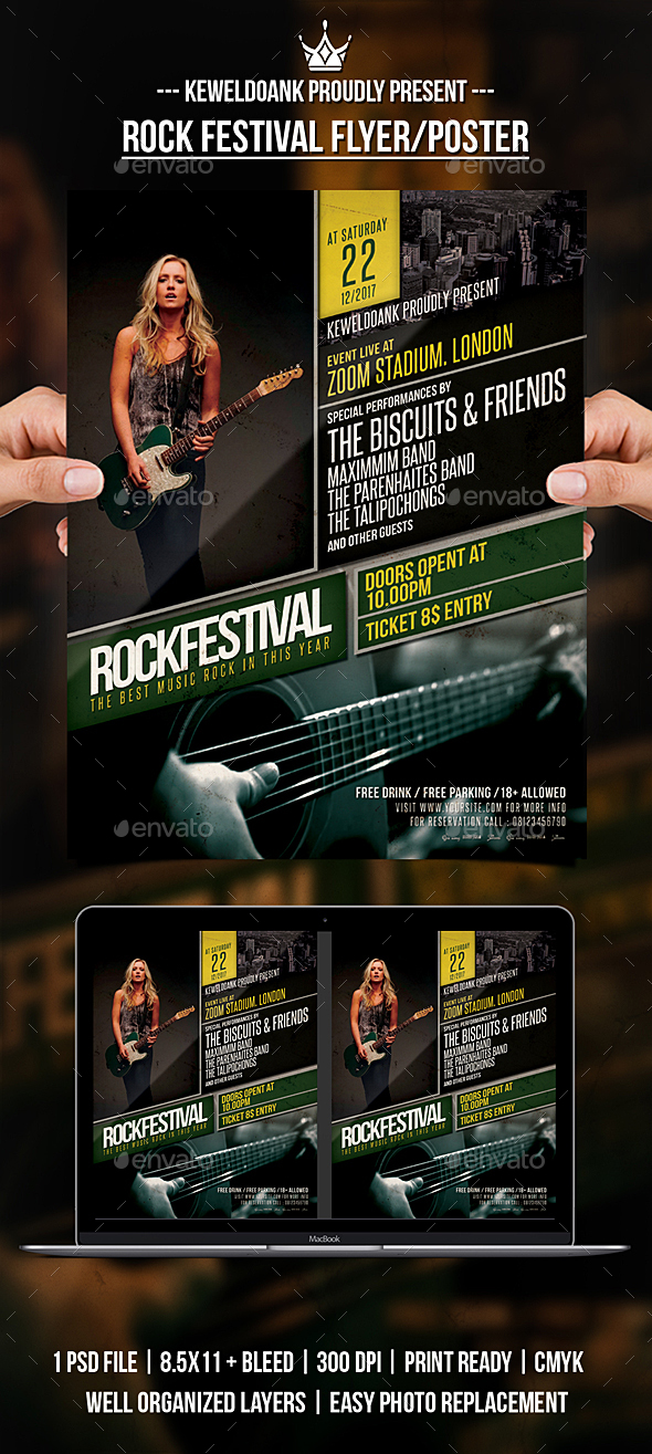 GraphicRiver Rock Festival Flyer Poster 20939579