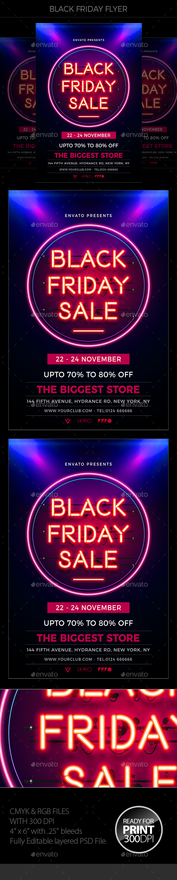 Black Friday Sale Flyer - Holidays Events