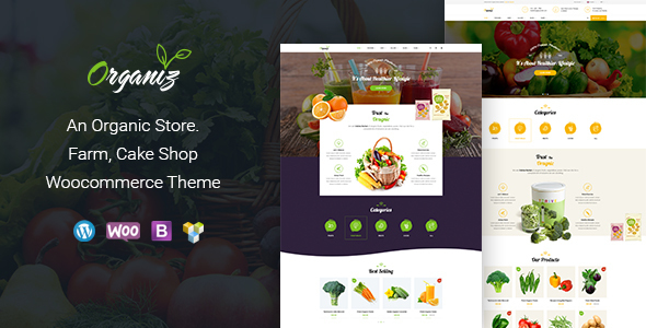 Organiz - An Organic Store WooCommerce Theme - Food Retail