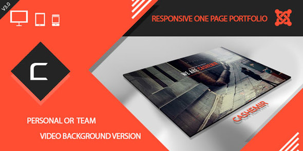 Cashemir Responsive One Page Joomla Template By Cththemes Themeforest