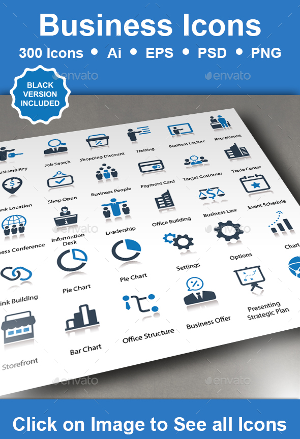 GraphicRiver Business Icons 20939687