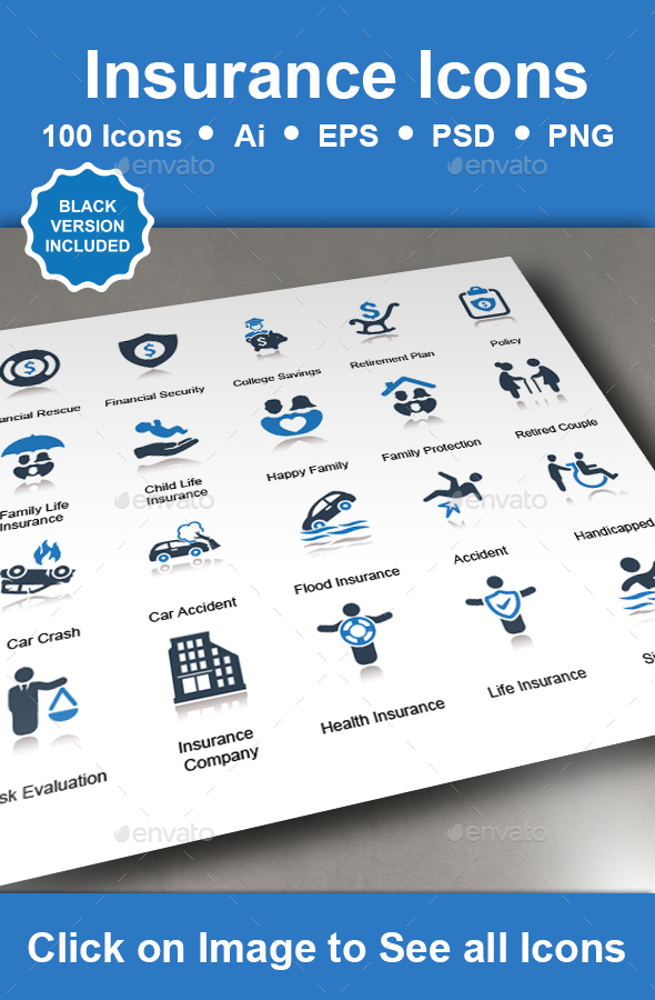 GraphicRiver Insurance Icons 20939741
