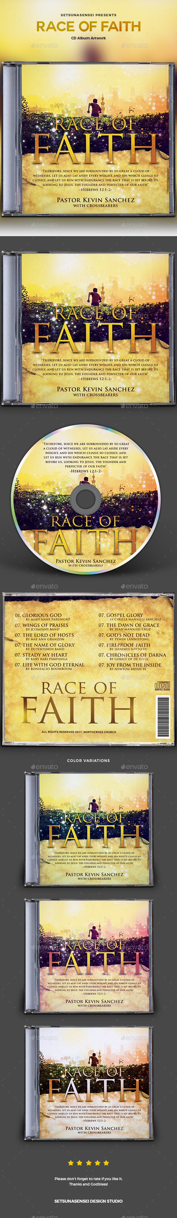 Race of Faith CD Album Artwork - CD & DVD Artwork Print Templates