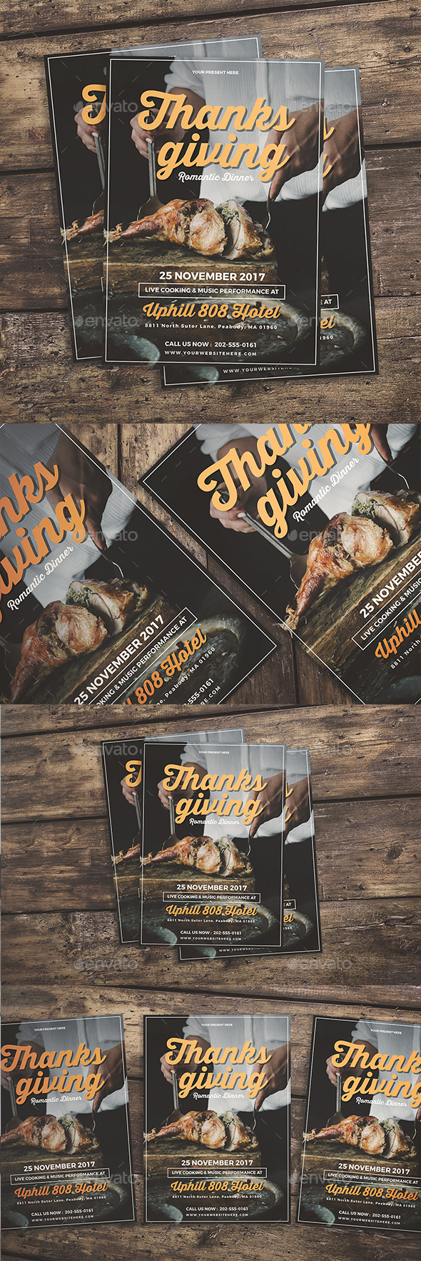 GraphicRiver Thanksgiving Dinner Flyer 20915275
