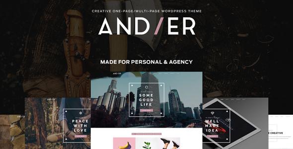 Andier - Responsive One Page & Multi Page Portfolio Theme - Portfolio Creative