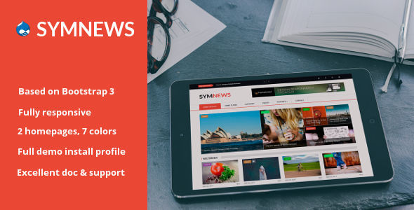 Image of SymNews - News & Magazine Drupal 8 Theme