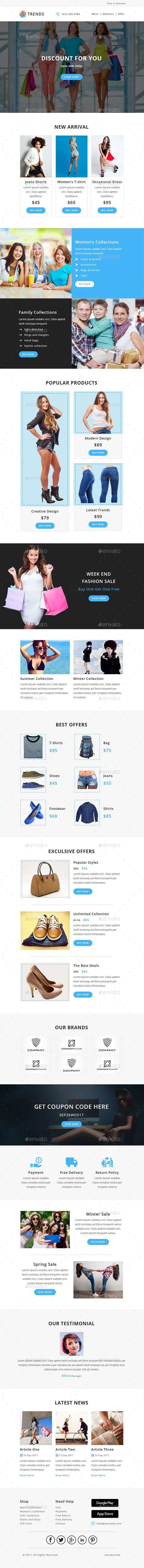 GraphicRiver Trends EMAIL PSD Template 20939927