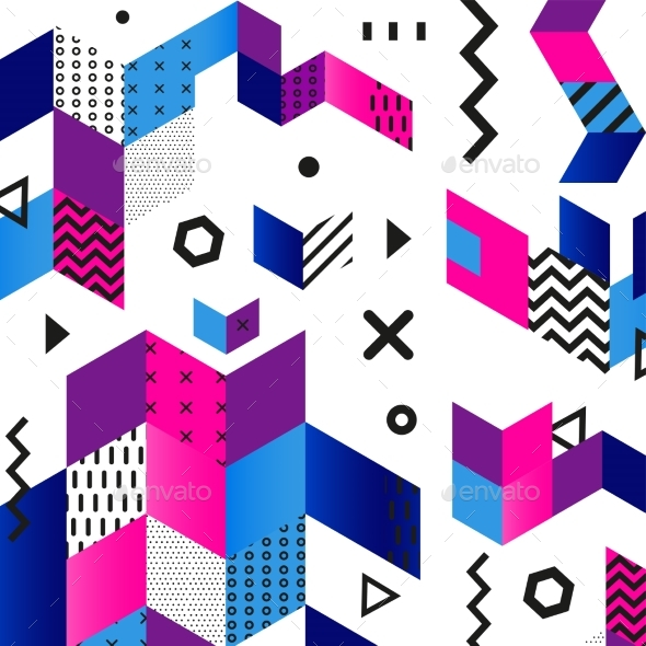 GraphicRiver Funky Seamless Abstract Geomertic Pattern Modern 20939928