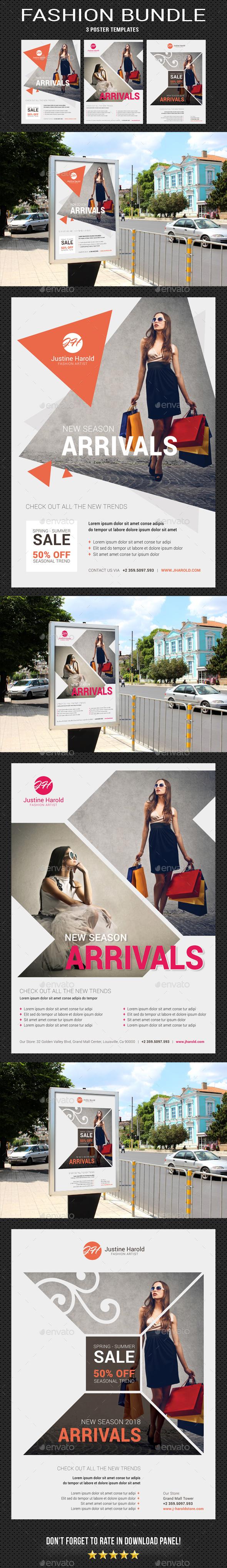 GraphicRiver Fashion Poster Bundle 20939971