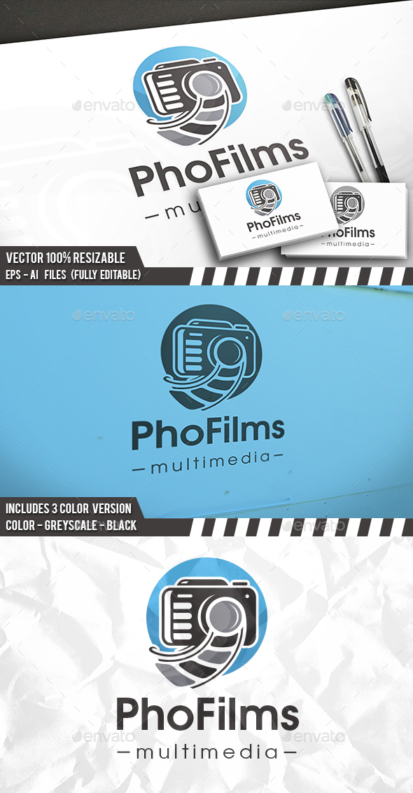 Camera Reel Logo - Objects Logo Templates
