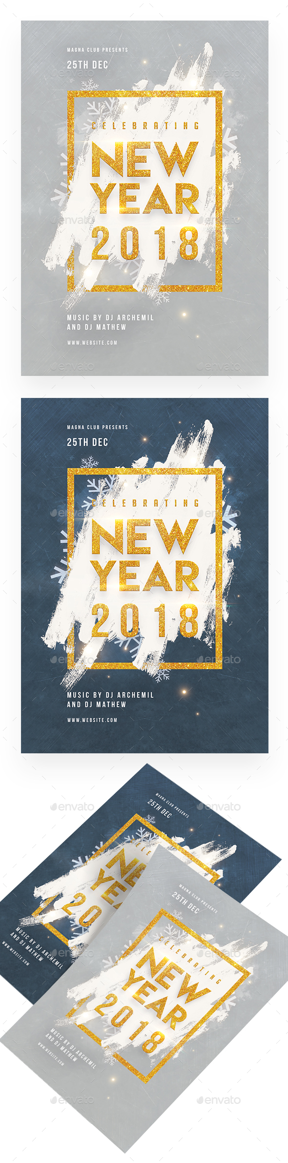 New Year Celebration Flyer - Clubs & Parties Events