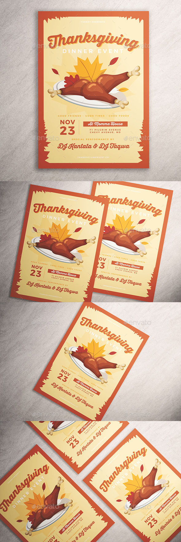 GraphicRiver Thanksgiving Dinner Flyer 20940074