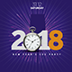 2018 NYE Minimalistic Flyer - GraphicRiver Item for Sale
