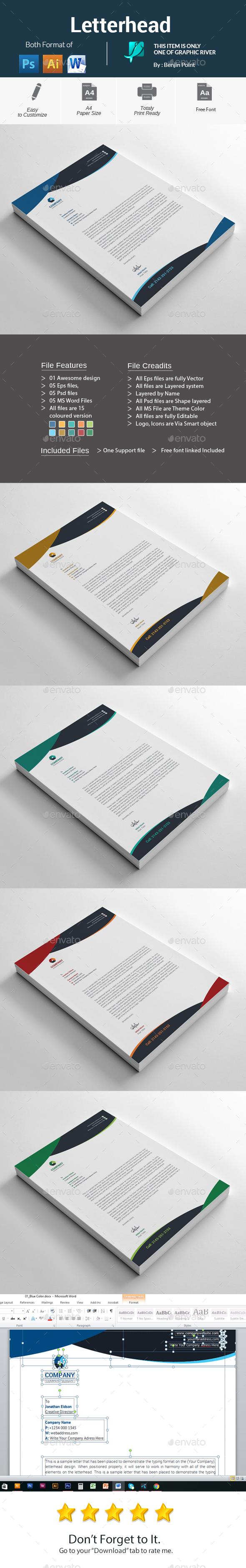 GraphicRiver Letterhead 20940157