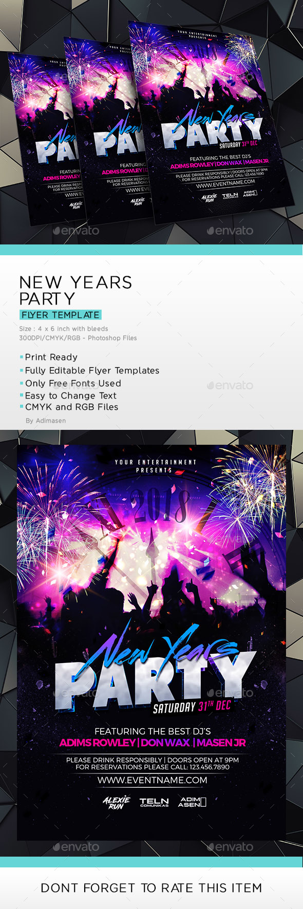 New Years Party Flyer Template - Clubs & Parties Events