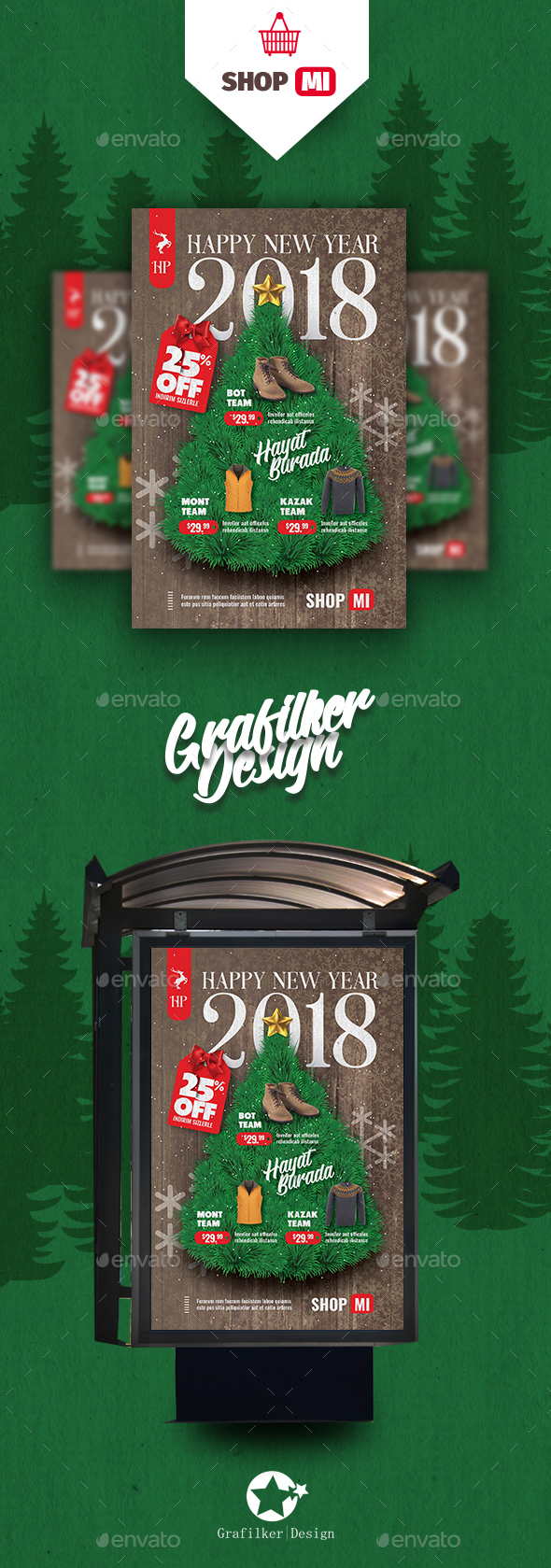 GraphicRiver Christmas Sale Poster Templates 20940232