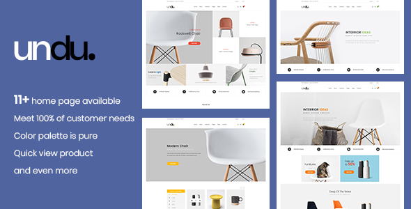 Undu - Multi Store WooCommerce WordPress Theme - WooCommerce eCommerce