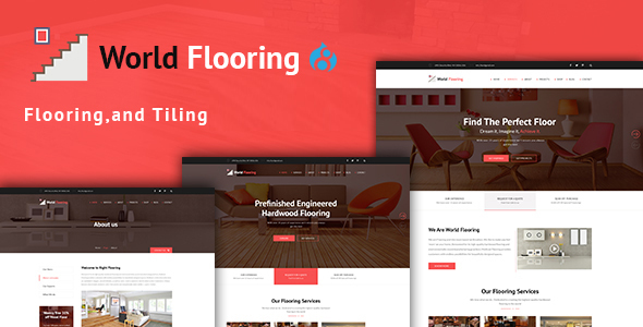 Image of World Flooring - Flooring, Tiling & Paving Services Drupal 8.4 Theme
