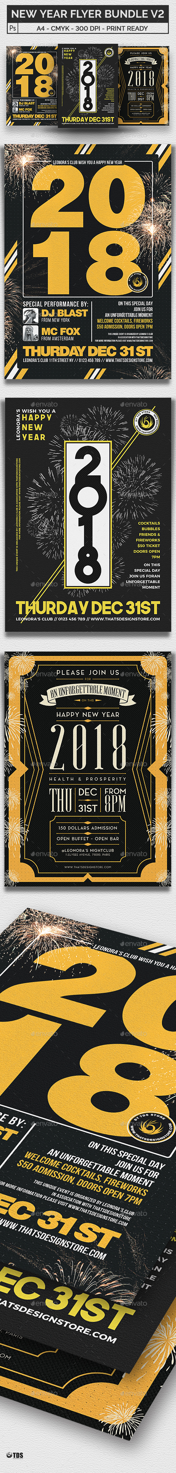 New Year Flyer Bundle V2 - Clubs & Parties Events