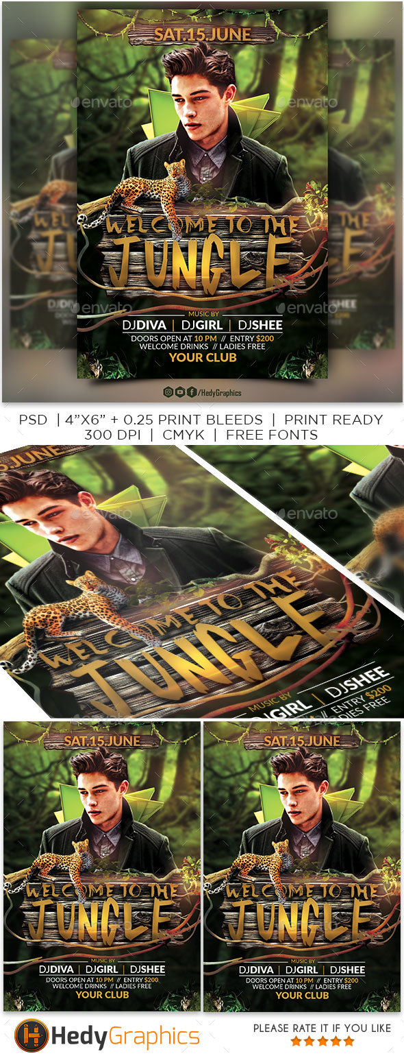 Welcome to the Jungle Flyer - Clubs & Parties Events