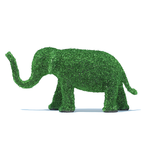 Elephant Shaped Hedge - 3DOcean Item for Sale