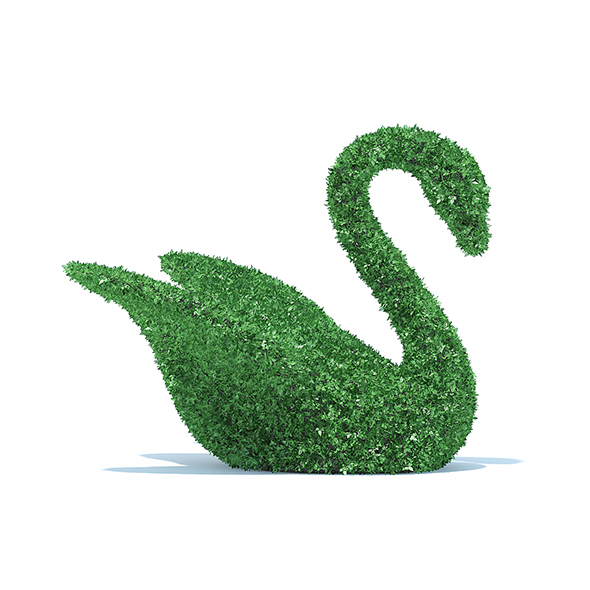 Swan Shaped Hedge - 3DOcean Item for Sale