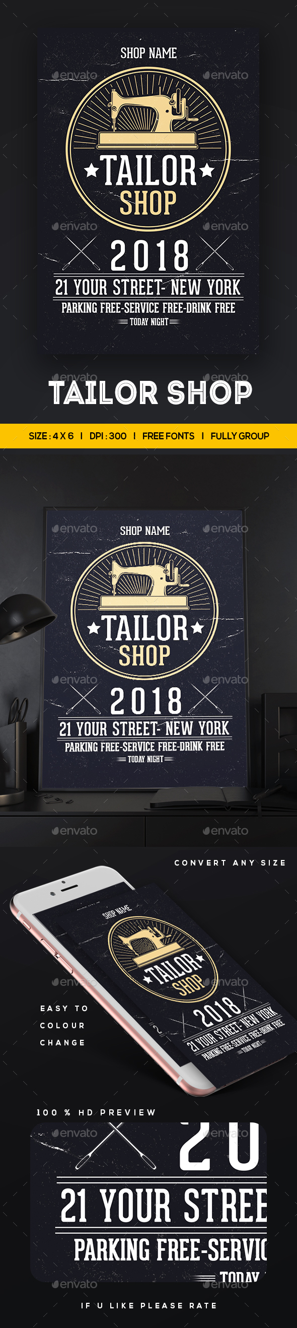 GraphicRiver Tailor Shop Flyer Template 20940457