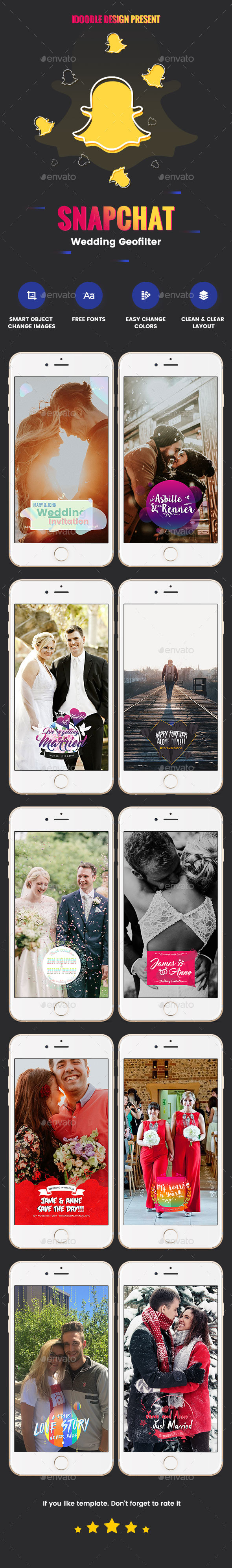 GraphicRiver Wedding Geofilters Snapchat 20940509